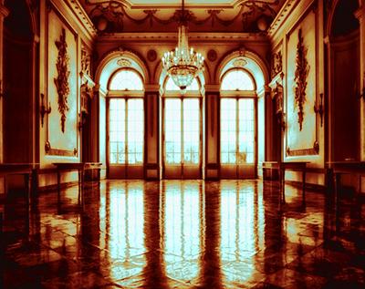 interior shot of a sunlit mansion
