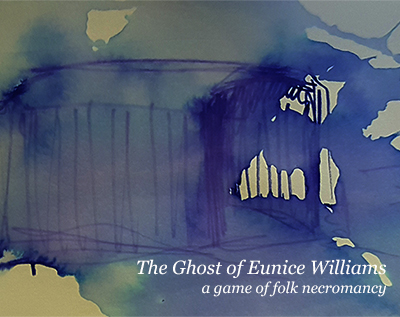 blurry blue ink wash - The Ghost of Eunice Williams