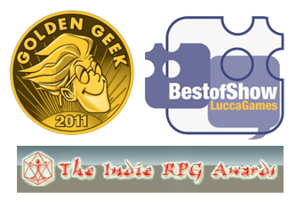the Indie RPG Awards, Lucca Games Best of Show, the Golden Geeks Game of the Year