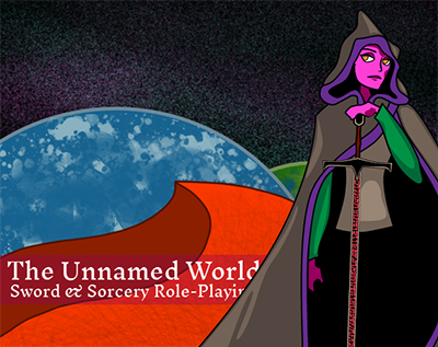 a figure with a rune sword: The Unnamed World