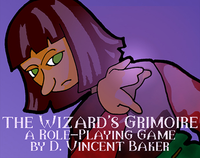 a wizard casting a spell: The Wizard's Grimoire