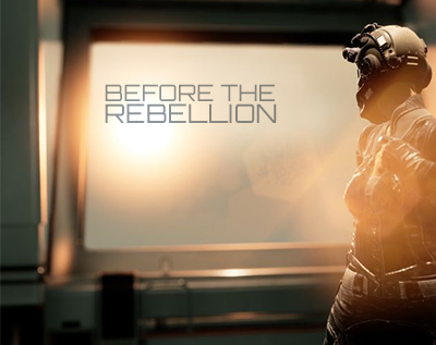 a space person looking out a spaceship window: Before the Rebellion